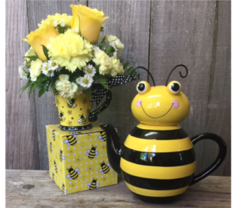Buzzie and Tea Pitcher in Portland OR, Portland Florist Shop