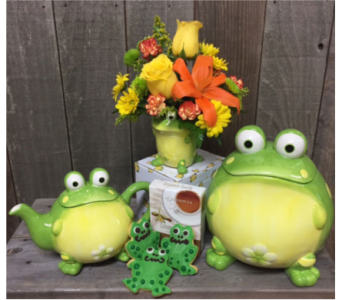 Frog Birthday Just PARTY in Portland OR, Portland Florist Shop