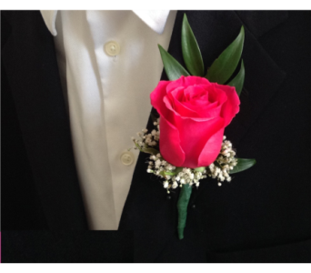 Red Rose Boutonniere  in North York ON, Aprile Florist