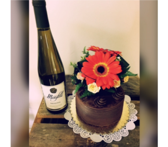 Chocolate Wine Gift  in Portland OR, Portland Florist Shop