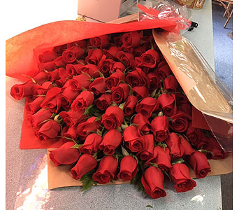 100 Wrapped Roses in Portland OR, Portland Florist Shop