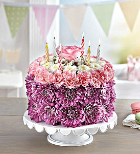 BIRTHDAY WISHES FLOWER CAKE PASTEL BY 1800FLOWERS in Las Vegas NV, A French Bouquet