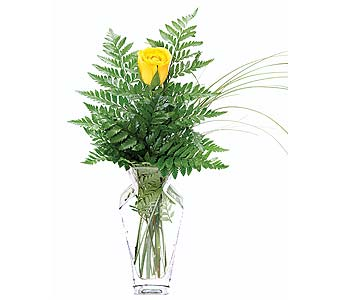 Simple Elegance Yellow Rose Bud Vase in Perrysburg & Toledo OH  OH, Ken's Flower Shops