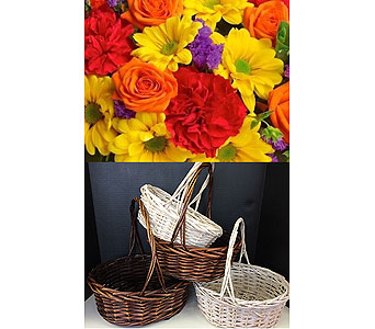 Brights in a Basket in Moon Township PA, Chris Puhlman Flowers & Gifts Inc.