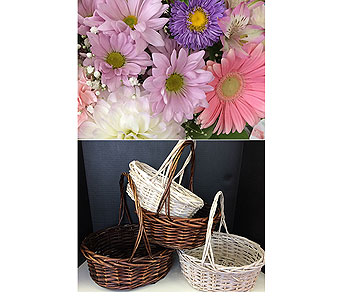 Pastels in a Basket in Moon Township PA, Chris Puhlman Flowers & Gifts Inc.