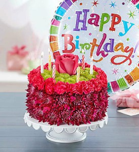 Birthday Wishes Flower Cake purple by 1800flowers in Las Vegas NV, A French Bouquet