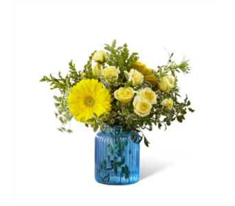 FTD-G10  Something Blue Bouquet in Chicago IL, La Salle Flowers
