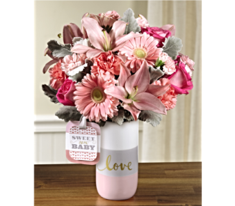 The FTD� Sweet Baby Girl Bouquet by Hallmark in San Antonio TX, Dusty's & Amie's Flowers