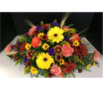 Festive Fall Centerpiece  in Moon Township PA, Chris Puhlman Flowers & Gifts Inc.