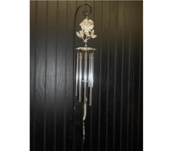 Rose Wind Chime in Ionia MI, Sid's Flower Shop