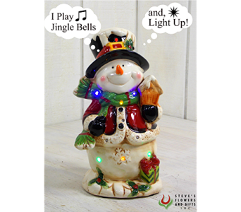 Musical Jolly Snowman in Pendleton IN, The Flower Cart