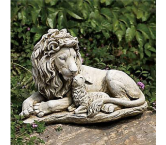Lion and Lamb Garden Stone in Perrysburg & Toledo OH  OH, Ken's Flower Shops