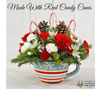 Candy Cane Christmas in Pendleton IN, The Flower Cart