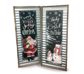Galvanized Holiday Signs in Indianapolis IN, McNamara Florist