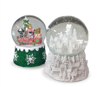 Assorted Holiday Snowglobes in Indianapolis IN, McNamara Florist