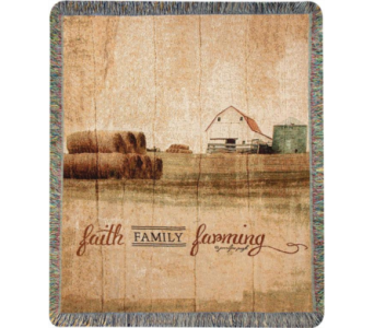 Faith, Family, Farming Throw Blanket in Perrysburg & Toledo OH  OH, Ken's Flower Shops
