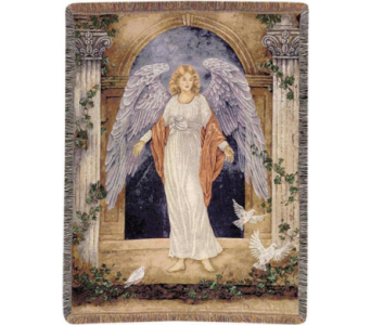 Guardian Angel Throw Blanket in Perrysburg & Toledo OH  OH, Ken's Flower Shops