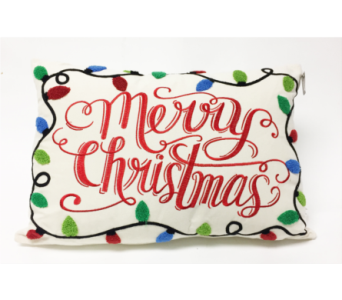 Merry Christmas Pillow in Perrysburg & Toledo OH  OH, Ken's Flower Shops