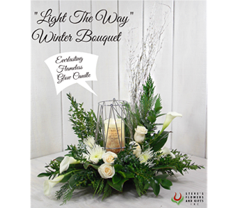 Light The Way Winter Bouquet in Pendleton IN, The Flower Cart