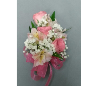 Pink & White Corsage in Chicago IL, La Salle Flowers