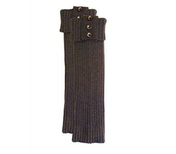 Slate Ribbed Tall Boot Cuff Acrylic in Pendleton IN, The Flower Cart