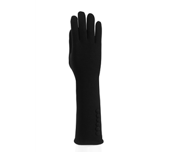 Black Cape Texting Glove w/Buttons Cotton in Pendleton IN, The Flower Cart