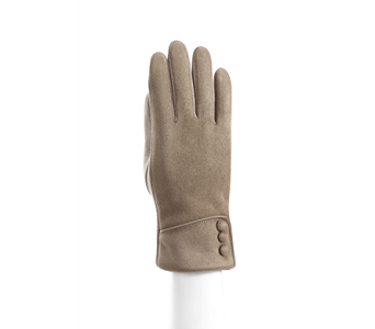 Tan Microsuede Cuffed Glove Polyester in Pendleton IN, The Flower Cart