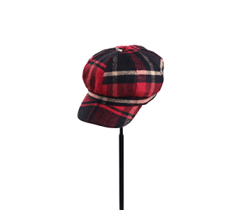 Red Tartan Plaid Newsboy Cap in Pendleton IN, The Flower Cart
