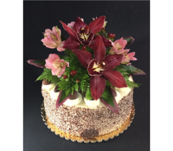Tiramisu Cake Flower Top in Portland OR, Portland Bakery Delivery