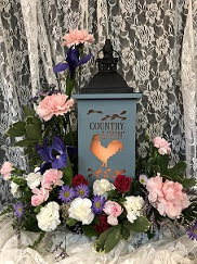 LIGHTED COUNTRY LIVIN LANTERN in Bay City MI, Keit's Flowers