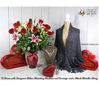 Love Story Package in Pendleton IN, The Flower Cart