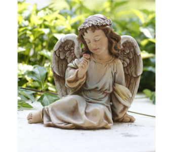 Parc Place Sitting Angel in Perrysburg & Toledo OH  OH, Ken's Flower Shops