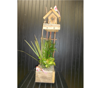 Tall Twig Birdhouse Planter  in Ionia MI, Sid's Flower Shop