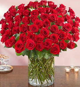 100 Premium Long Stem Roses in Las Vegas NV, A French Bouquet