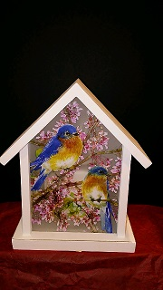 BLUE BIRD LIGHTED HOUSE in Bay City MI, Keit's Flowers