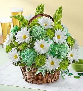 St Patricks Day Flower Basket in Las Vegas NV, A French Bouquet