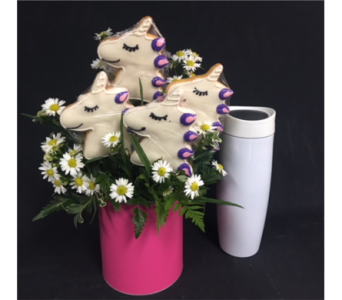 Unicorn Cookies W/ Coffee Mug in Portland OR, Portland Bakery Delivery