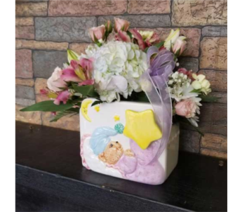 Baby Bear Musical Vase in Chattanooga TN, Chattanooga Florist 877-698-3303