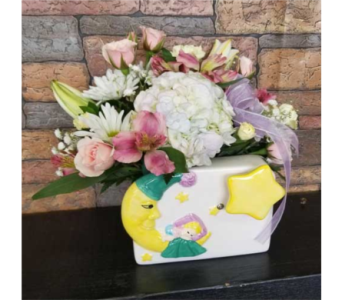 Baby Moon Musical Vase in Chattanooga TN, Chattanooga Florist 877-698-3303