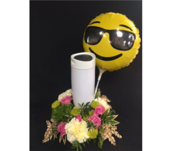 Smiley Balloon with Coffee Cup in Portland OR, Portland Florist Shop
