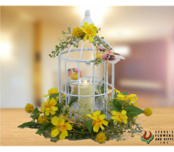 Birdcage Moving Flame Candlholder in Pendleton IN, The Flower Cart