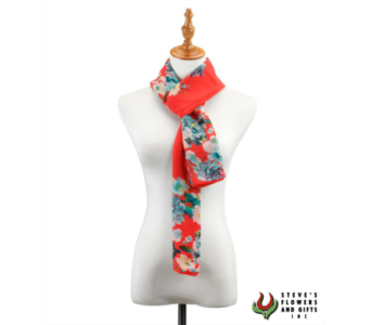 Coral Floral Runner Scarf in Pendleton IN, The Flower Cart