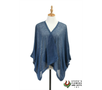Blue Jersey Shrug in Pendleton IN, The Flower Cart