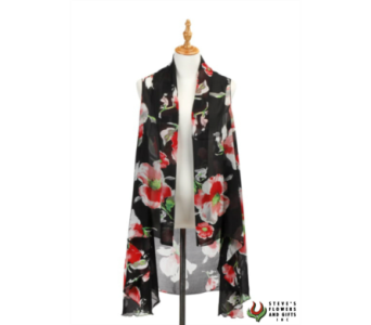 Black Poppy Vest in Pendleton IN, The Flower Cart
