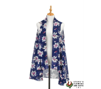 Blue Magnolia Vest in Pendleton IN, The Flower Cart