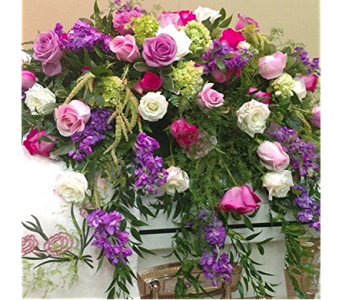 Garden Casket Spray in Macon GA, Lawrence Mayer Florist