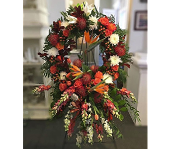 Tropical Splendor Wreath in Macon GA, Lawrence Mayer Florist