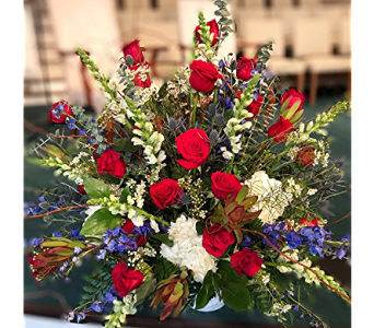 Patriotic Splendor in Macon GA, Lawrence Mayer Florist