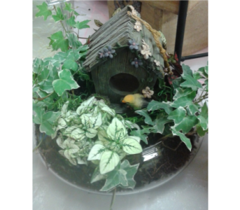 Bird House in Glass in North Bay ON, The Flower Garden