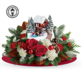 Thomas Kinkade's Snowfall Dreams Bouquet in Calgary AB, All Flowers and Gifts
